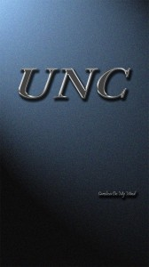 UNC Wallpaper Metal Letters on Lit Wall 1080 x 1920
