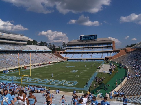 A look at the Blue Zone of Kenan Memorial Stadium in 2011 By Tnbailey09 (Own work) [CC-BY-SA-3.0 (www.creativecommons.org/licenses/by-sa/3.0)], via Wikimedia Commons