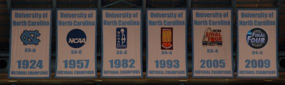 UNC National Championship Banners