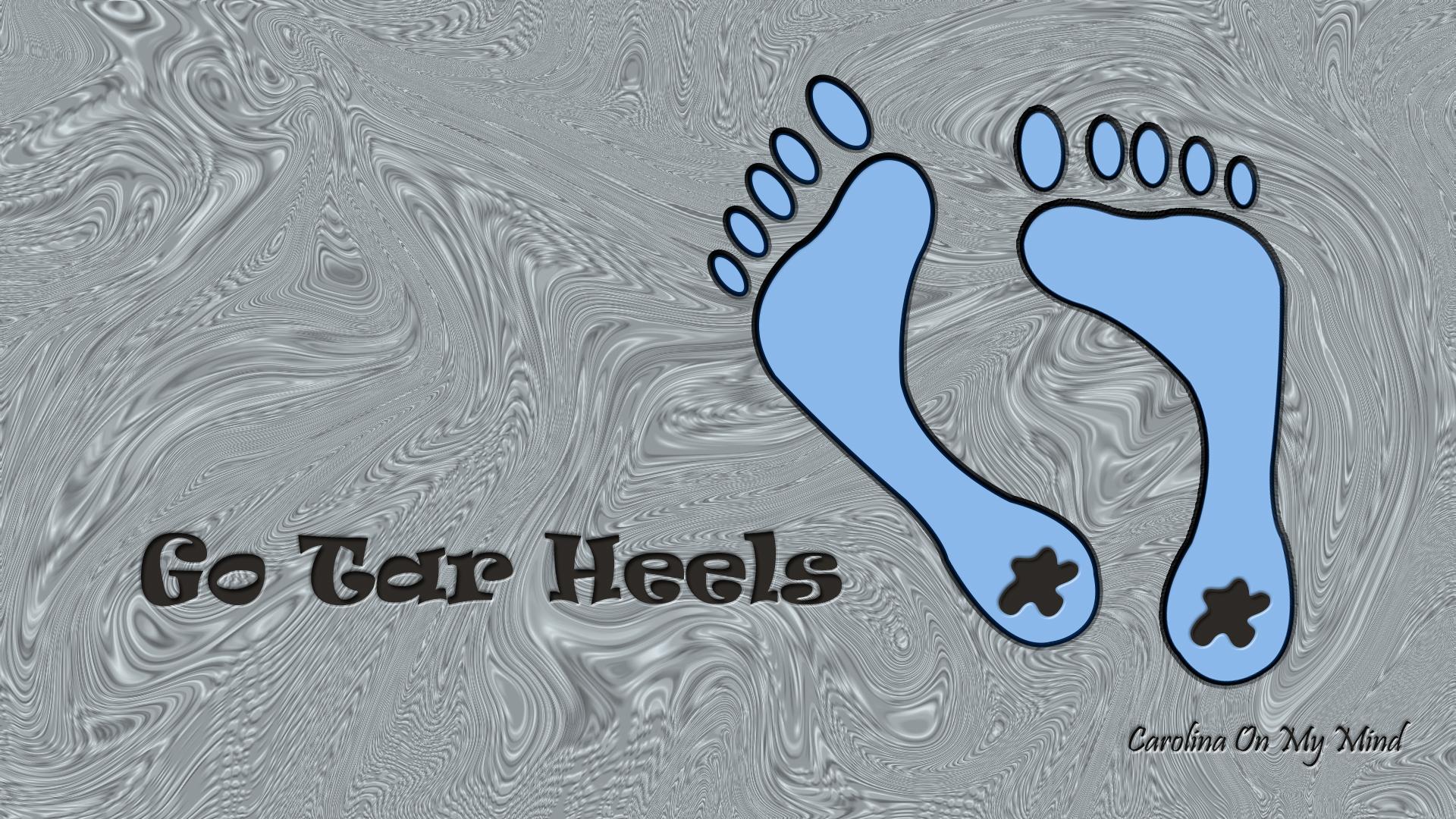 UNC Desktop Wallpaper on Gray Swirl with Tar Heels