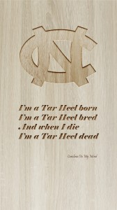 UNC Phone Wallpaper Engraved Wood