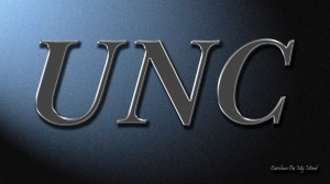 UNC Desktop Wallpaper Metal Letters on Lit Wall