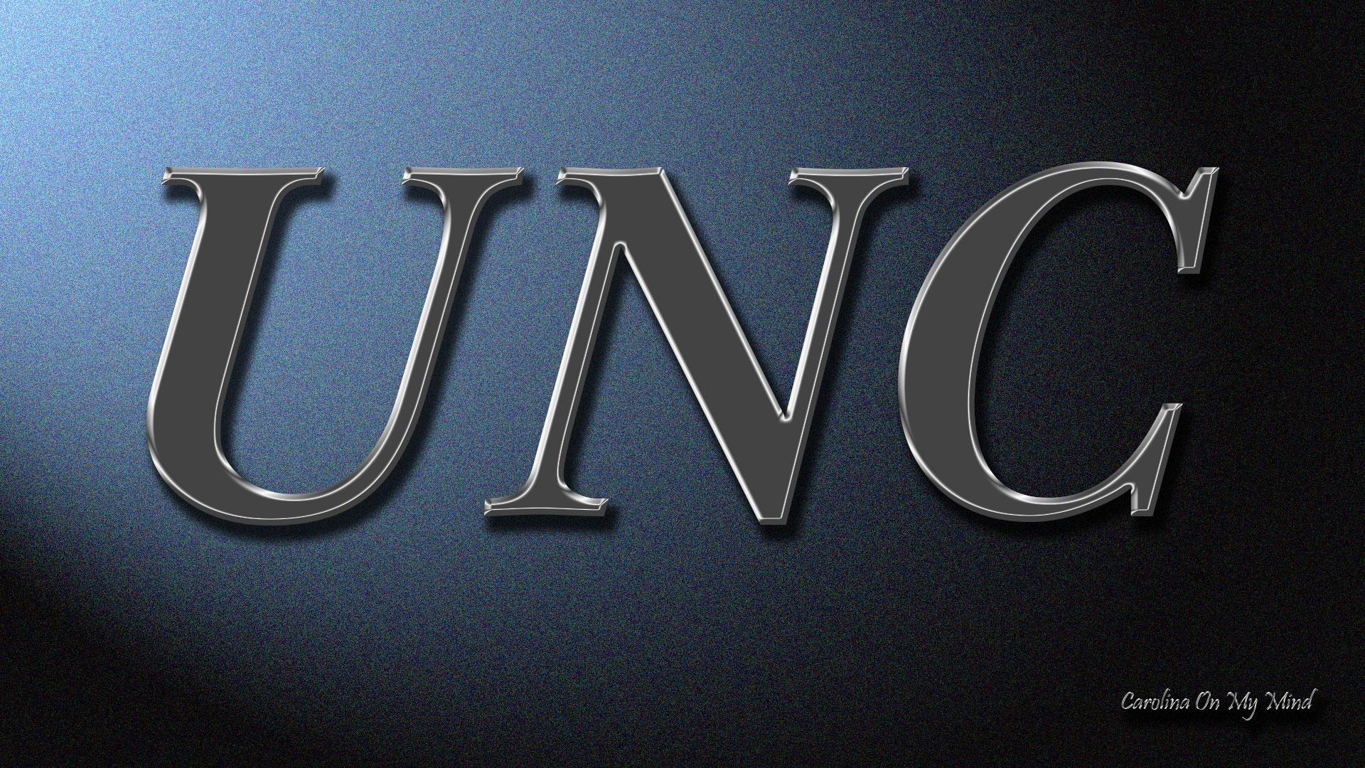 UNC Desktop Wallpaper Metal Letters On Lit Wall